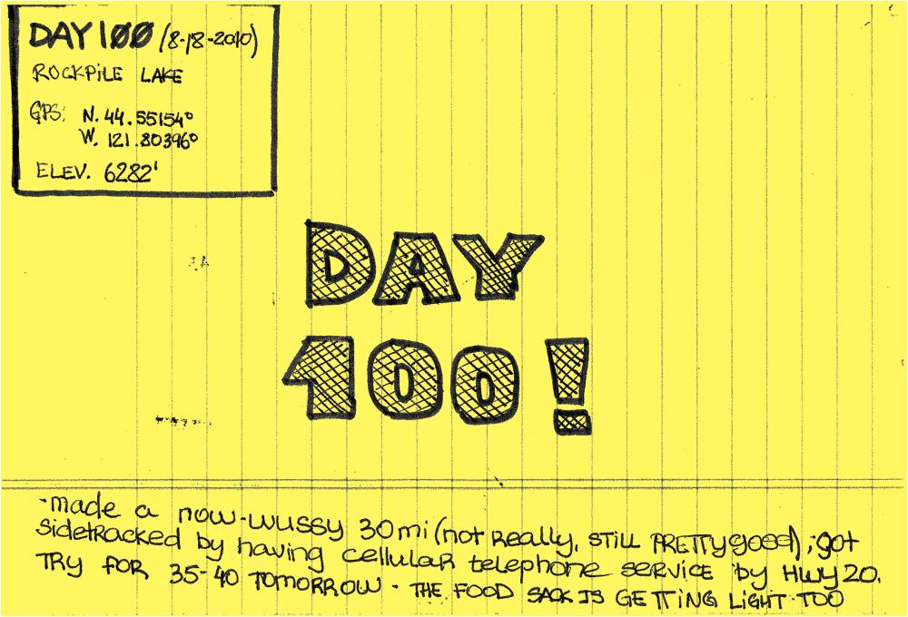 Day 100: Rockpile Lake